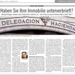 23.12.2010 Mallorca Zeitung: Recht und Steuern - Haben Sie Ihre Immobilie unterverbrieft?