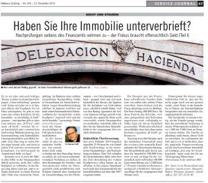 Mallorca Zeitung: Recht und Steuern - Haben Sie Ihre Immobilie unterverbrieft?