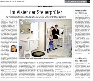 30.12.2010 Mallorca Zeitung: Recht und Steuern - Im Visier der Steuerprüfer
